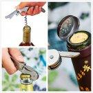 Multifunctional Stainless Metal Corkscrew Wine Beer Bottle Opener 7 Colors