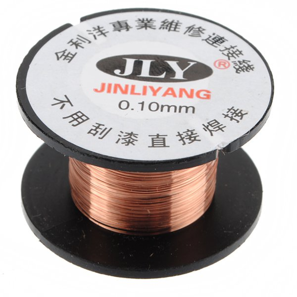 0.1mm Copper Soldering Solder PPA Enamelled Reel Wire Roll 15m New