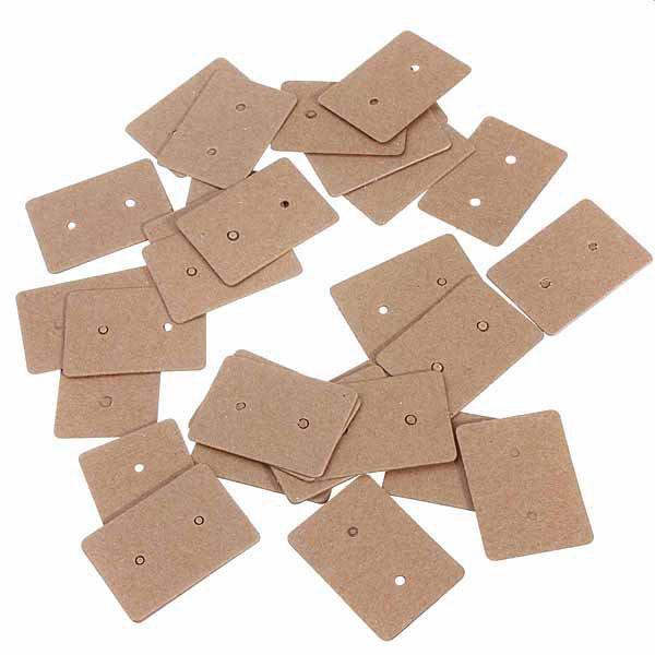 Brown Kraft Paper Earring Card Ear Studs Display Hang Tag