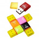Compact USB 2.0 High Speed Micro SD TF Card Reader Adapter