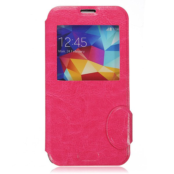 Window Slim Magnetic Flip Leather Stand Case For Samsung S5 i9600