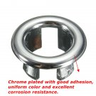 Bathroom Sink Basin Chrome Trim Overflow Hole Round Cover Silver