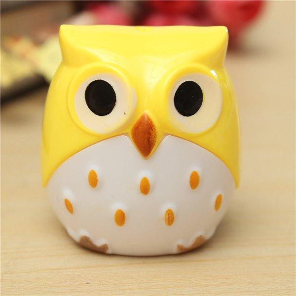 Creative Stationery Cute Owl Bird Pencil Sharpener Tow Holes