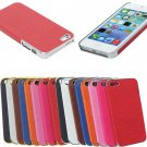 Aluminum Chrome Leather Hard Back Cover Case Protector For iPhone 5 5S