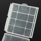 Clear Plastic Holder Storage Box For Rechargeable AA AAA NiMH NiCd