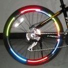 Bicycle Reflecting Fluorescent Wheel Rim Sticker Decals