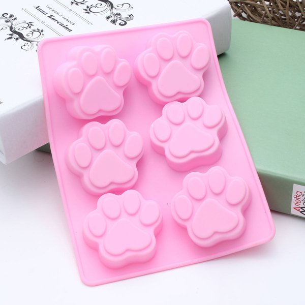 6-Cat's Paw Silicone Cake Mold Ice Cube Chocolate Cupcake Soap Mould