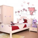 Cartoon Pink Bear Wall Sticker Home Decor Girl Kid Room Decoration