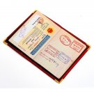 PU Passport Holder Ticket ID Card Protector Cover Travel Case