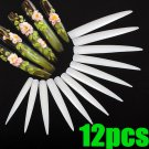 12pcs 3D acrylic point milky French false nail art tips