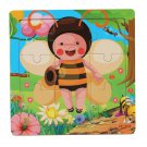 Baby Children Wooden Animals Puzzle Early Education Imposition Toy