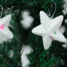 6pcs Christmas Tree Decoration White Star Hanging Ornaments