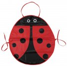 Baby Kids Children Cute Cartoon Ladybug Waterproof Drawing Kichen Apron