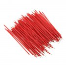 100pcs Breadboard Jumper Cable Wires For Experiment Test 1.0mm 6cm Red