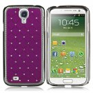 Crystal-inlaid Plastic Back Case for Samsung Galaxy S4 i9500
