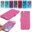 Flip Transparent Full Body Wrap-Up Buckled TPU Gel Case For iPhone 6