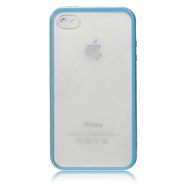 Hard Matte Frosted Clear Back TPU Bumper Frame Case For iPhone 4 4S