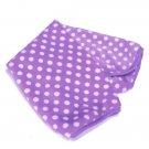 Polka Dot Soft Fleece Pet Dog Cat Mat Blanket Quilt Pad Cushion
