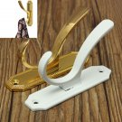 Retro Clothes Double Hooks Coat Hat Robe Holder Wall Hanger Zinc Alloy