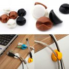 6Pcs Wire Cable Clips Ties USB Charger Holder Organizer With Adhesive