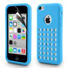 Colourful Ultra Thin Soft Gel Silicone Dot Hole Case For iPhone 5C