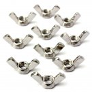 10pcs 304 Stainless Steel M6 Wing Nut Butterfly Nut Metric Thread