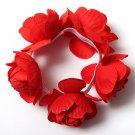 Flower Bun Garland Floral Head Knot Hair Band Elastic Bridal