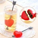 Cupid Heart Arrow Strainer Tea Leaf Filter Infuser Stirrer Teaspoon