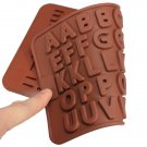Cake Muffin Cookie Chocolate Alphabet Baking Silicone Jelly Mold Mould