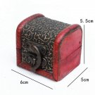 Vintage Mini Wooden Jewelry Box Treasure Storage Case Container