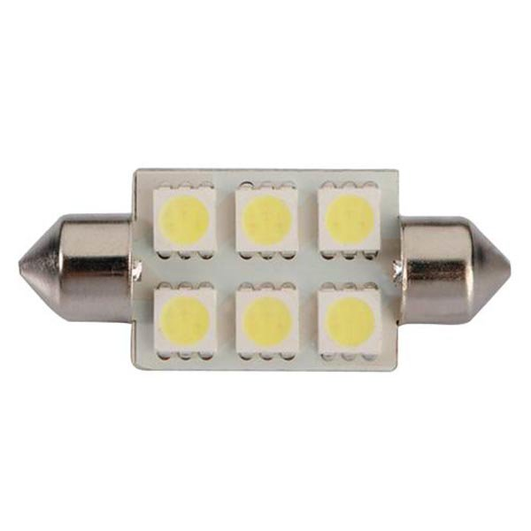 White 39mm 5050 6 SMD LED Festoon Dome C5W Light Bulb