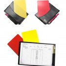 Soccer-Football Referee Notebook With Pencil Yellow and Red Cards