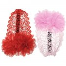 2 Colors Baby Girl Flower Lace Bow Elastic Hairband HeadBand