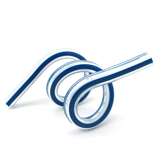 TRIXES 30CM 12Inch Flexible Helix Vinyl Plastic French Curve Ruler