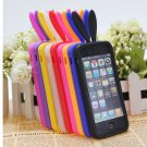 Cute Rabito Bunny Rabbit Soft TPU Back Skin Cover Case For iPhone5