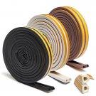 5M Self Adhesive D Type Foam Seal Strip Weatherbar Draft Rubber Seal