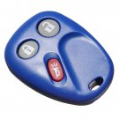 3 Button Entry Remote Key Fob Shell Case Pad For GM