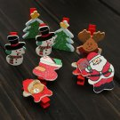 12pcs Christmas Wooden Clips Pegs Card Holder Craft Decoration