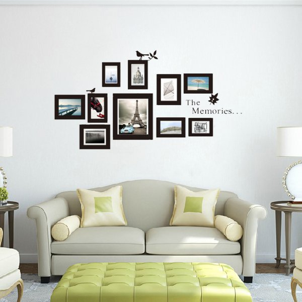 10Pcs Photo Frame DIY Set Vinyl Decal Decor Home Art Wall Sticker