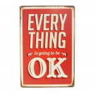 Every Thing Tin Sign Retro Vintage Metal Plaque Bar Pub Wall Decor