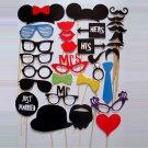 31Pcs DIY Wedding Photo Booth Props Party Favors Party Decor