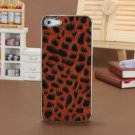 Leopard Style Soft Designed Hard Back Case For iPhone 5