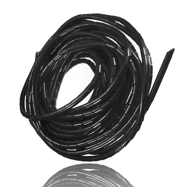 10M Spiral Wire Wrap Tube Manage Cord f PC Computer Home Cable 6-60MM