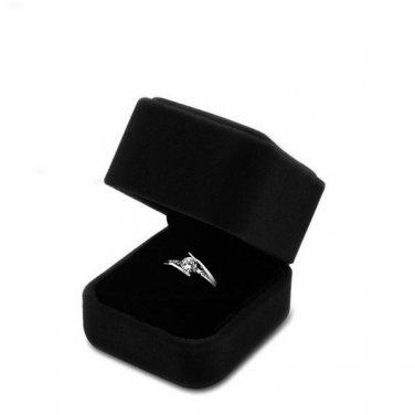 Black Velvet Box Case Jewelry Display Ring Earrings Pendant Necklace