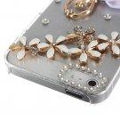 Sparkle Ballet Girl Flower Bling Crystal Diamond Case For iPhone 5 5G