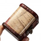 Retro Vintage Stamp Wooden Jewelry Storage Box Case Metal Lock