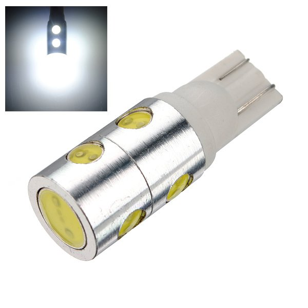 7 SMD T10 4W LED High Power Light Bulb Lamp 168 194 501 921 W5W 12V