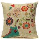 Linen Colorful Sofa Throw Pillow Case Cushion Cover Home Decor