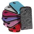 Shining Spangle PU Top Flip-Open Case For Samsung Galaxy S4 I9500