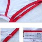 Men's Slim Simple Red Edge Solid Color Underwear